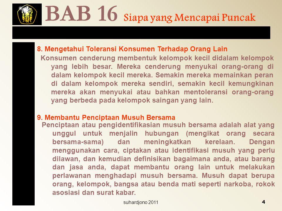 BAB 16 Siapa yang Mencapai Puncak
