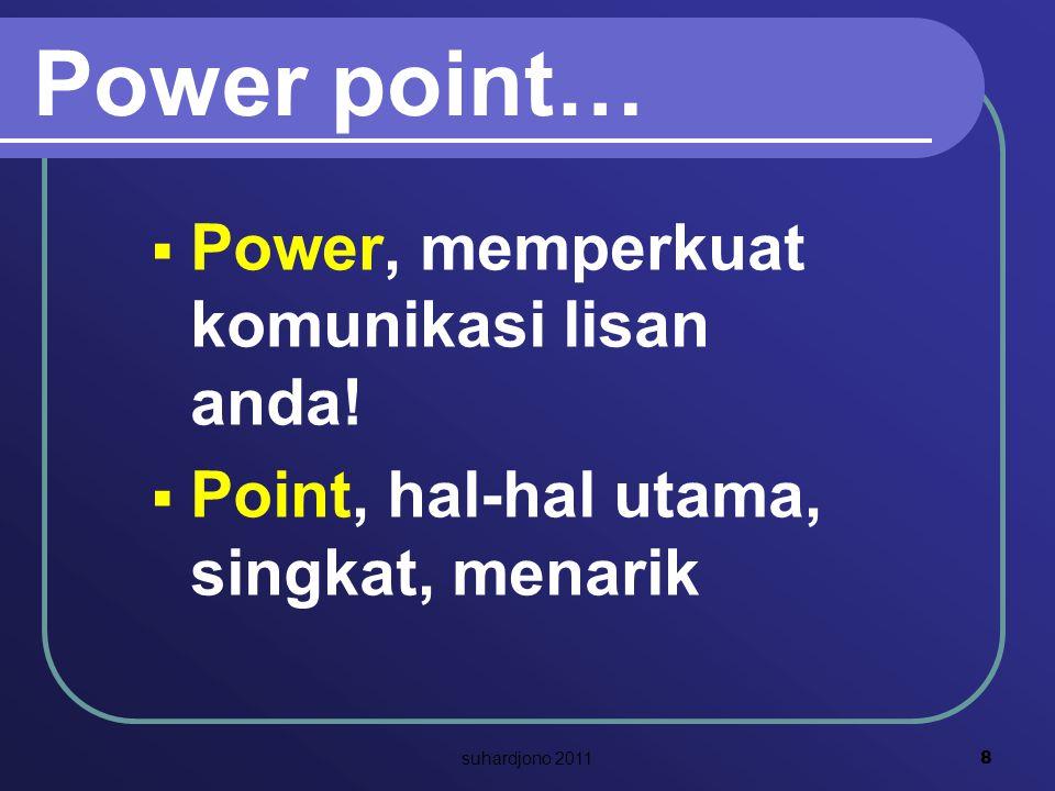 Power point… Power, memperkuat komunikasi lisan anda!