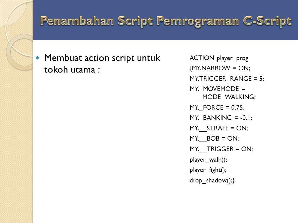Penambahan Script Pemrograman C-Script