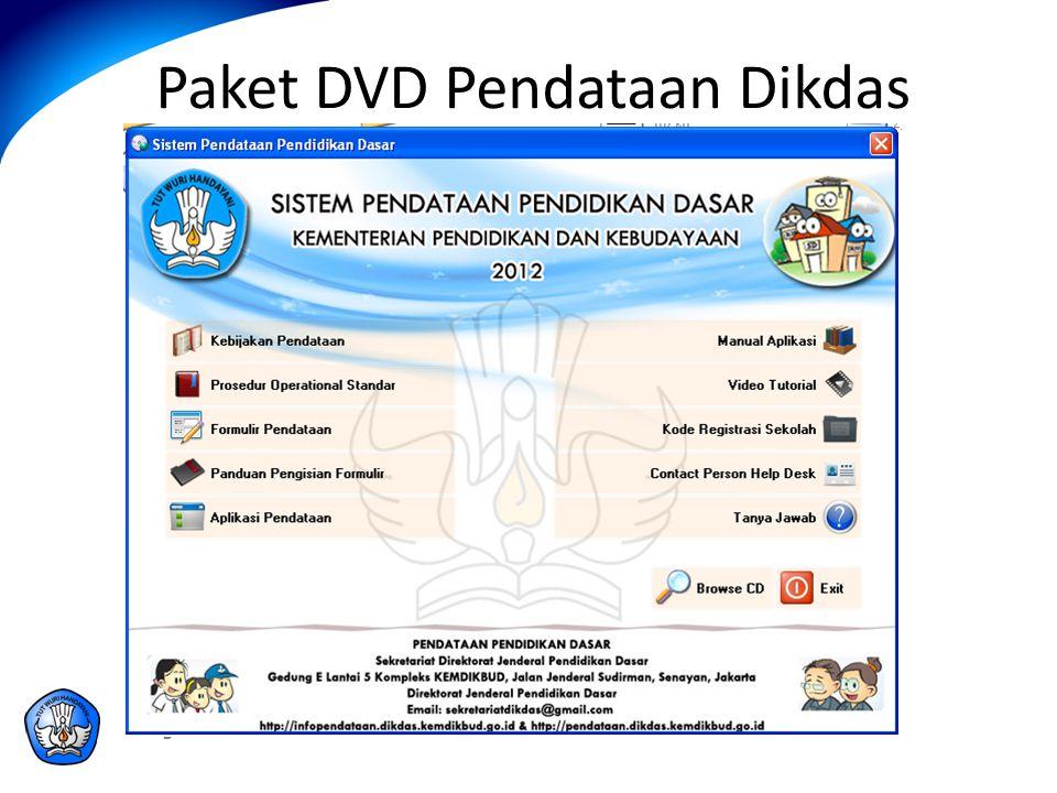Paket DVD Pendataan Dikdas