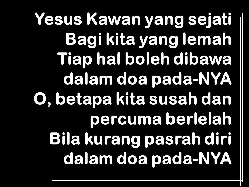 Yesus Kawan yang sejati