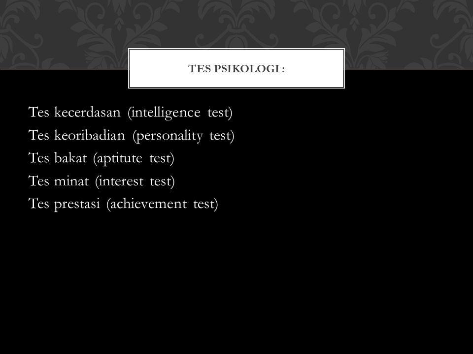 Tes Psikologi :