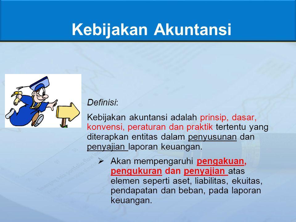 Kebijakan Akuntansi Definisi: