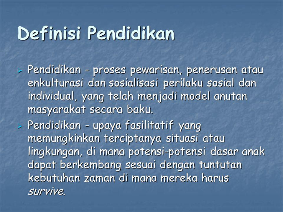 Definisi Pendidikan