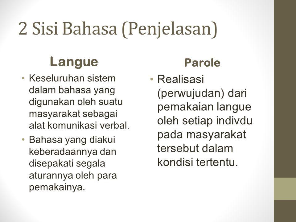 2 Sisi Bahasa (Penjelasan)