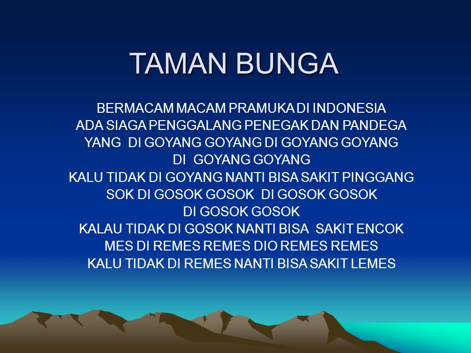 TAMAN BUNGA BERMACAM MACAM PRAMUKA DI INDONESIA
