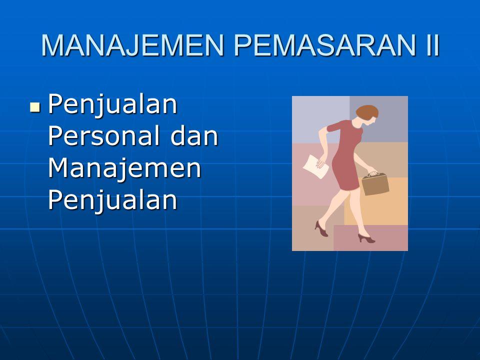 MANAJEMEN PEMASARAN II