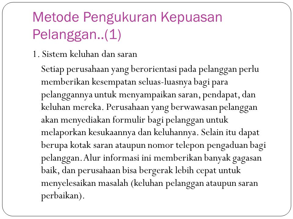 Metode Pengukuran Kepuasan Pelanggan..(1)