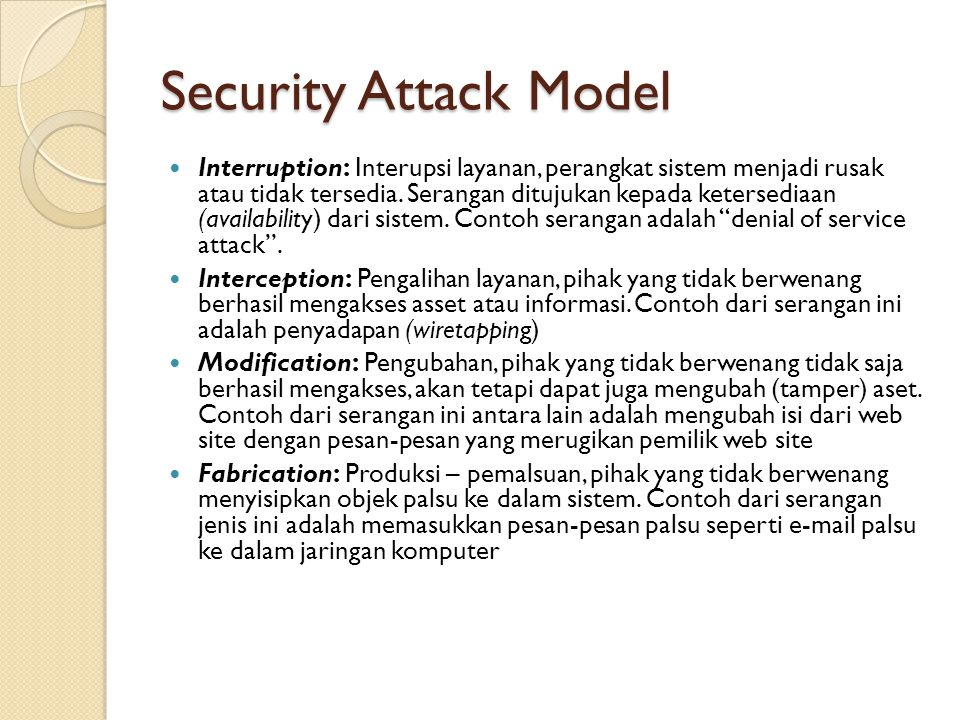 Security Attack Model