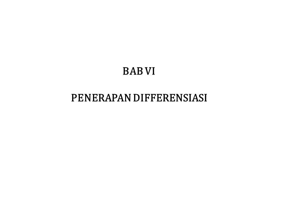 PENERAPAN DIFFERENSIASI