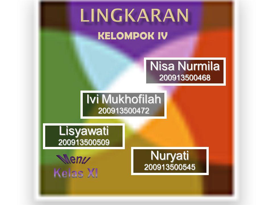 Menu Kelas XI LINGKARAN Nisa Nurmila Ivi Mukhofilah Lisyawati Nuryati