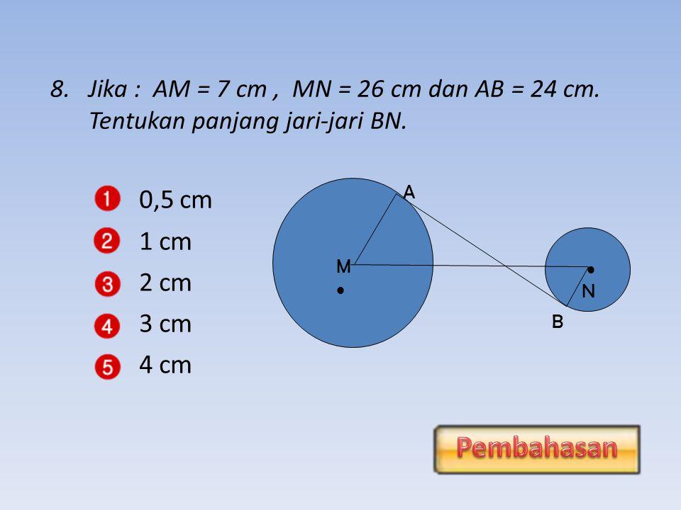 0,5 cm Pembahasan 1 cm 2 cm 3 cm 4 cm