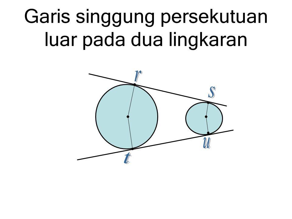 Garis singgung persekutuan luar pada dua lingkaran