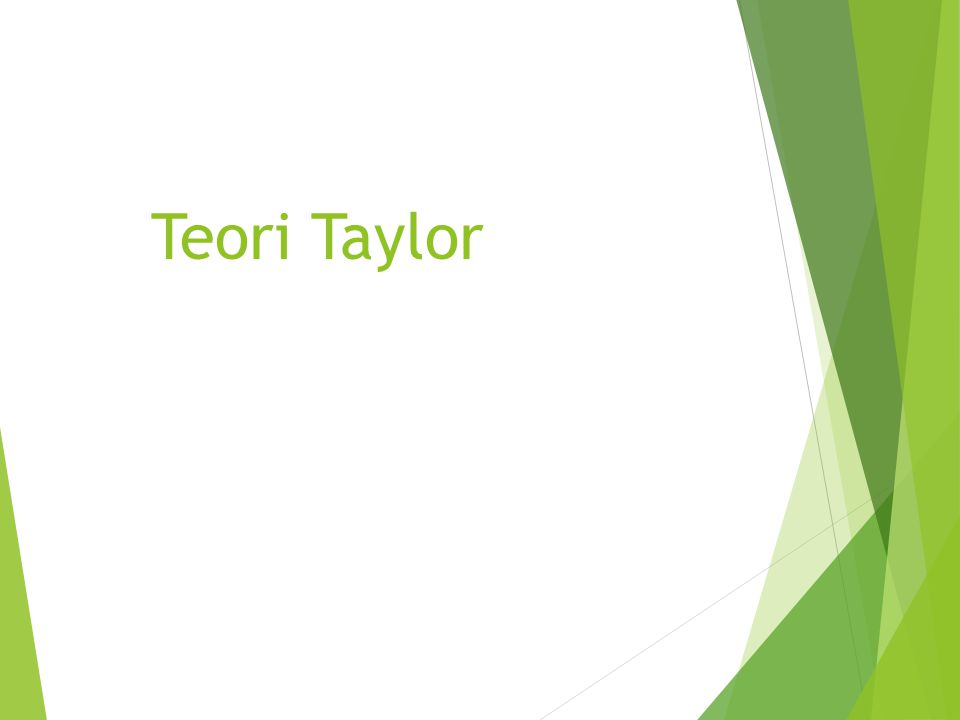 Teori Taylor 20