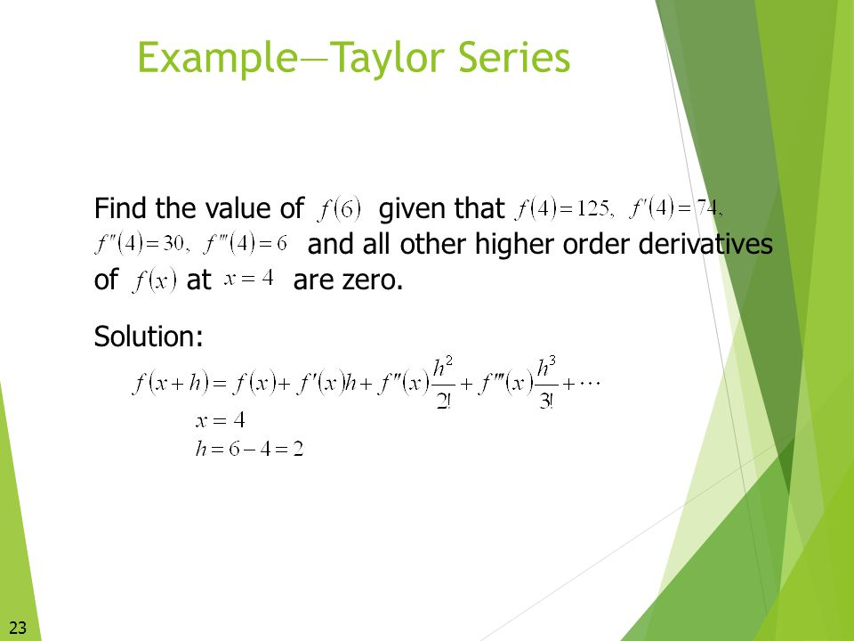 Example—Taylor Series