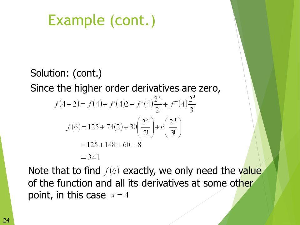 Example (cont.) Solution: (cont.)