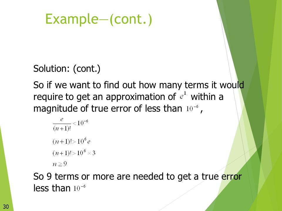 Example—(cont.) Solution: (cont.)