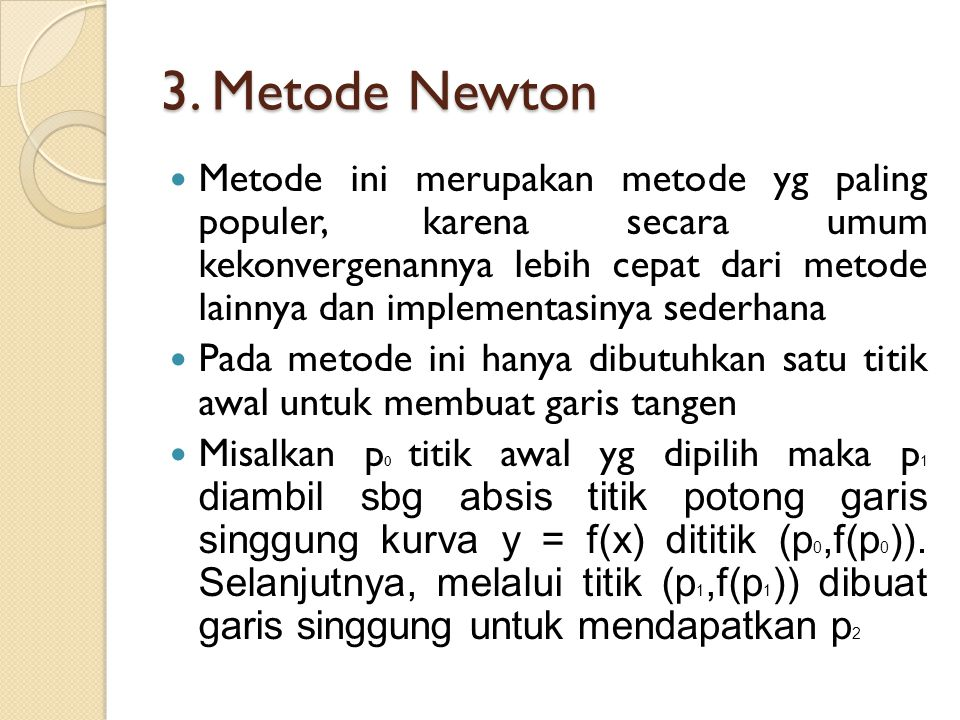 3. Metode Newton