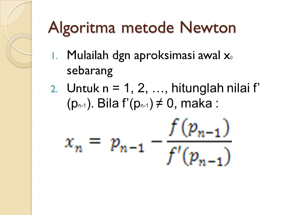 Algoritma metode Newton