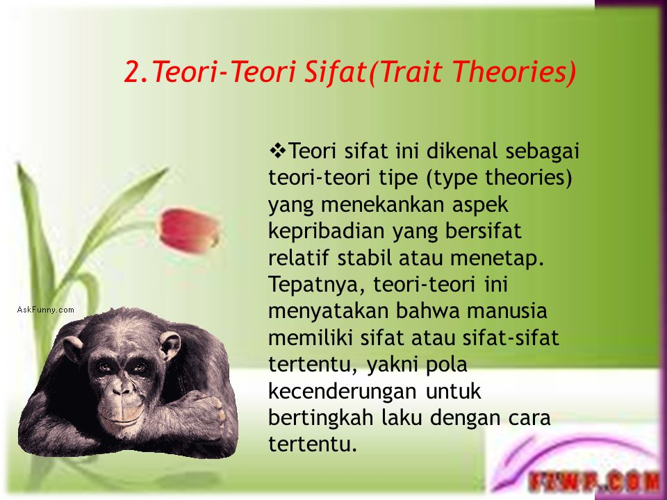 2.Teori-Teori Sifat(Trait Theories)