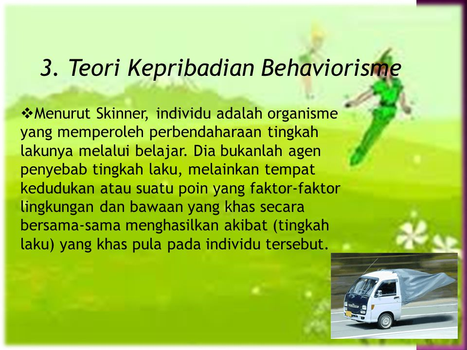 3. Teori Kepribadian Behaviorisme