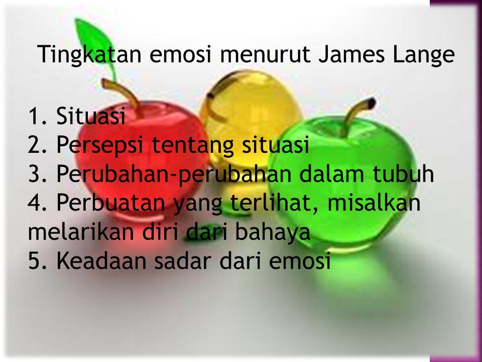 Tingkatan emosi menurut James Lange
