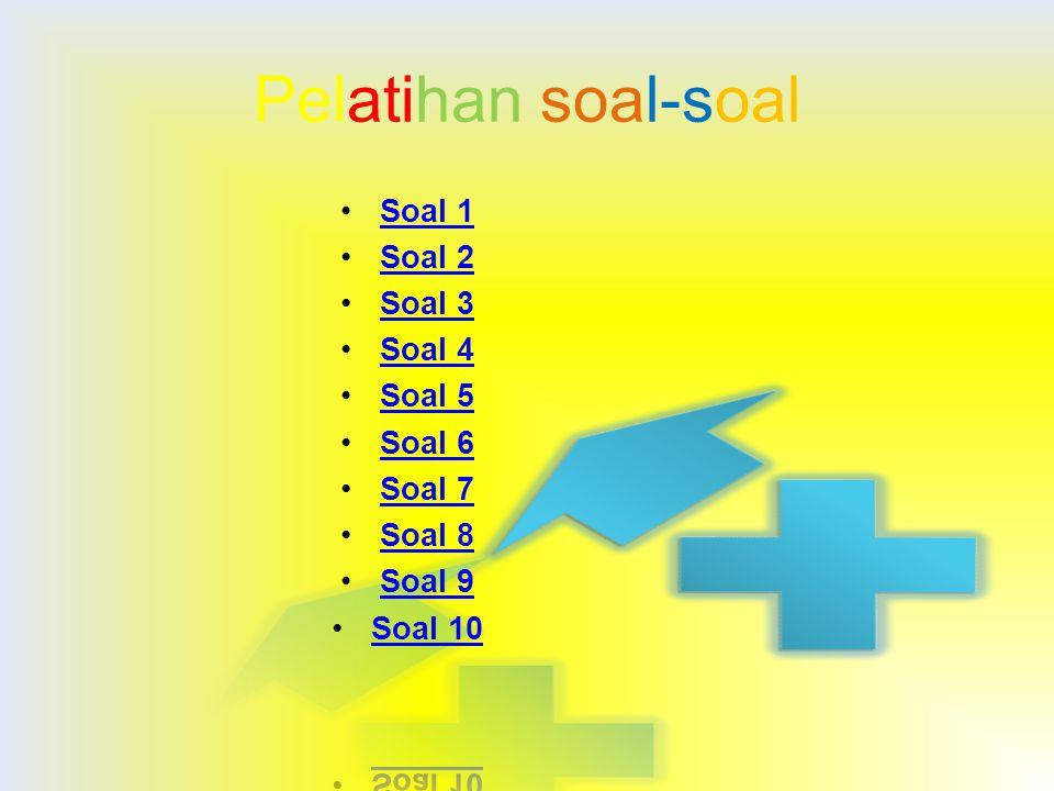 Pelatihan soal-soal Soal 1 Soal 2 Soal 3 Soal 4 Soal 5 Soal 6 Soal 7