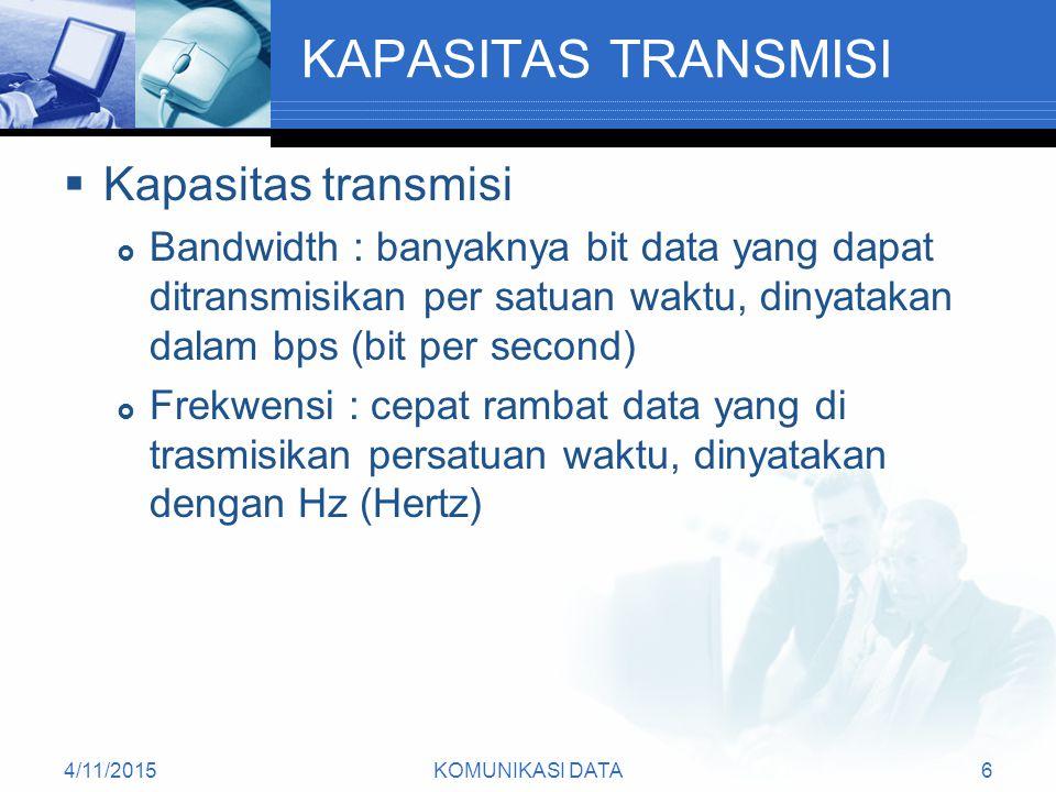 KAPASITAS TRANSMISI Kapasitas transmisi