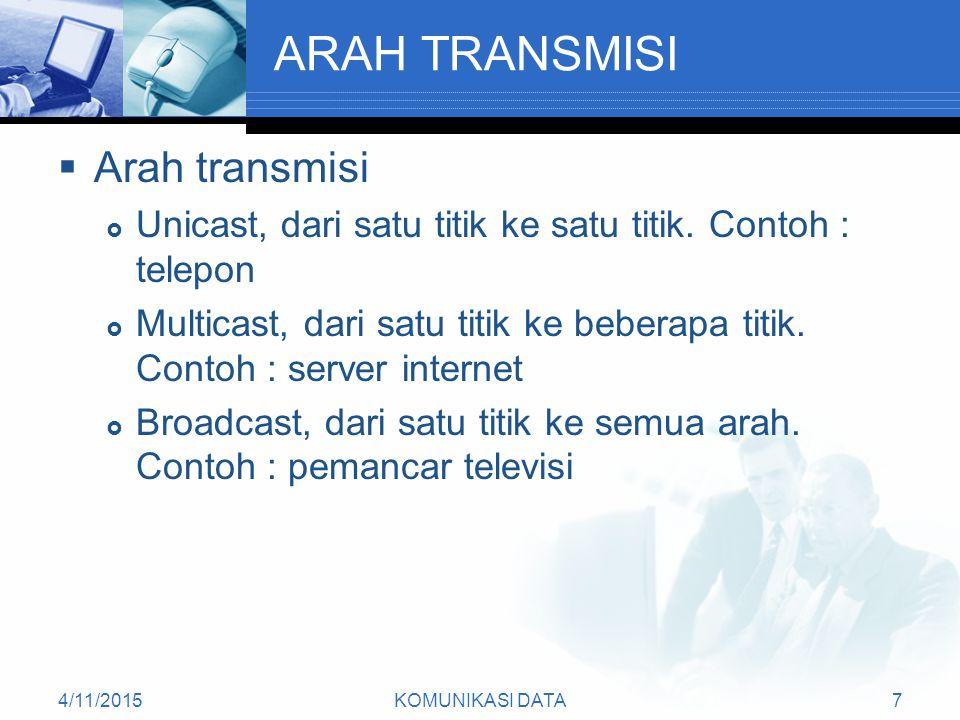 ARAH TRANSMISI Arah transmisi