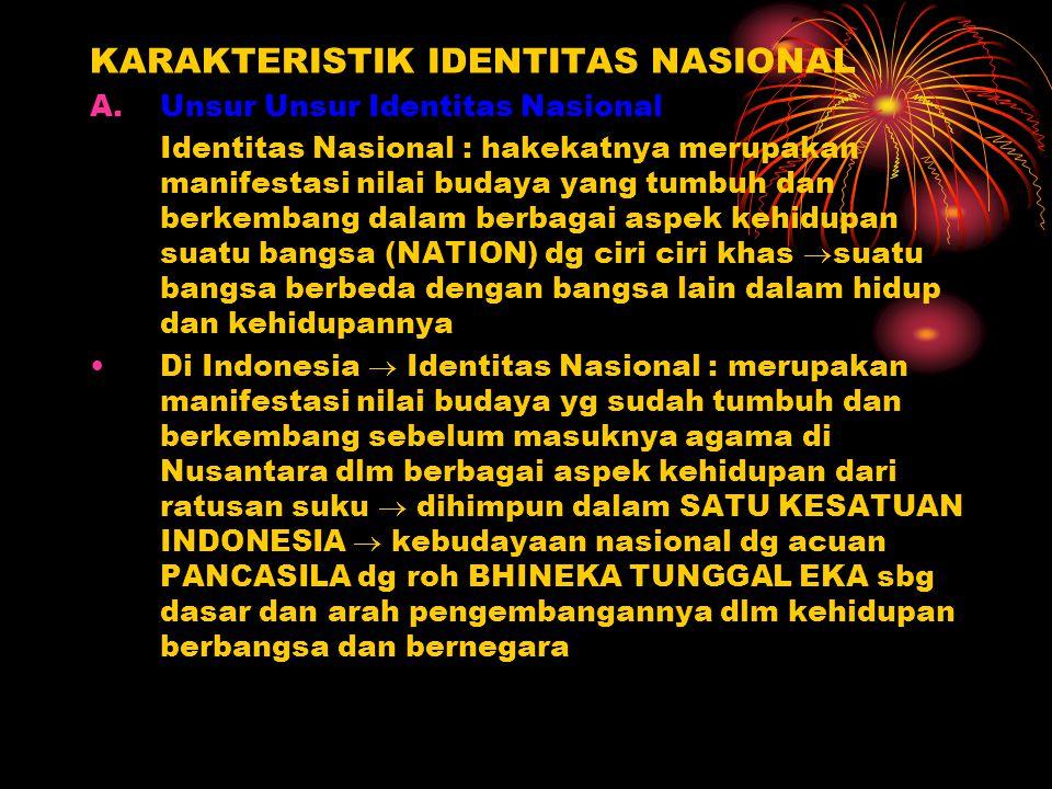 KARAKTERISTIK IDENTITAS NASIONAL