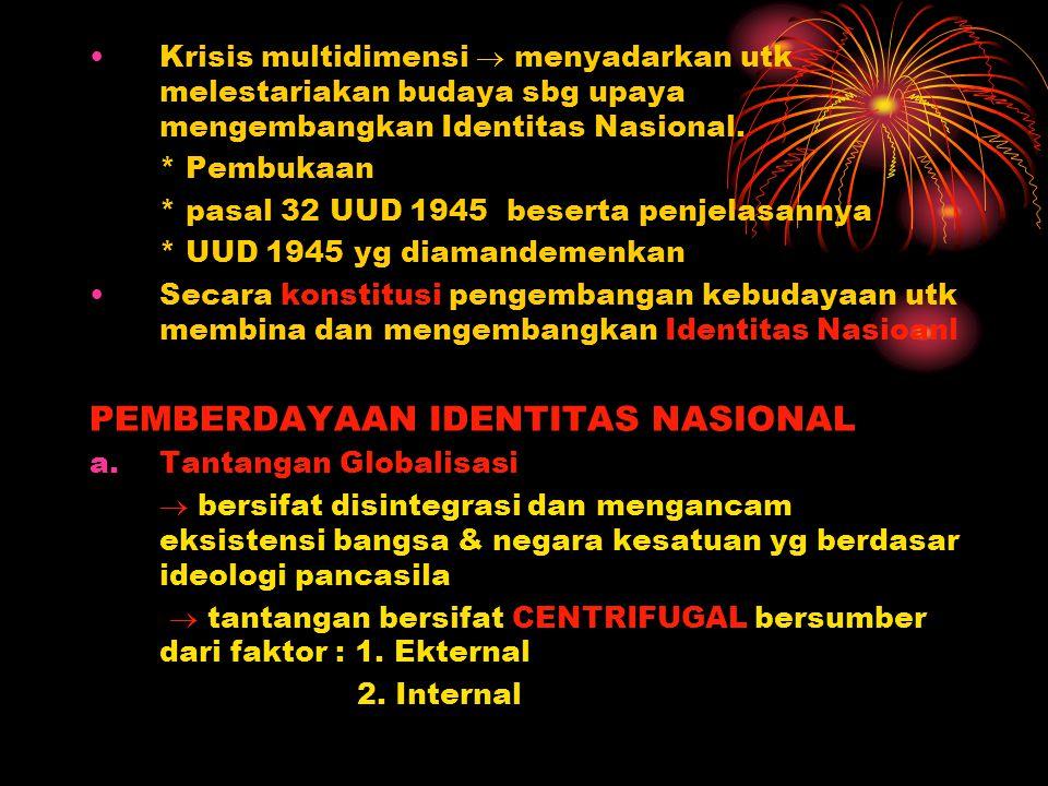 PEMBERDAYAAN IDENTITAS NASIONAL