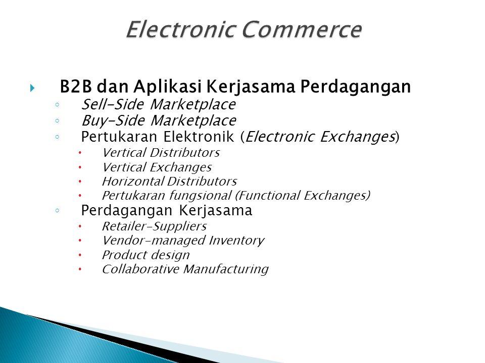 Electronic Commerce B2B dan Aplikasi Kerjasama Perdagangan