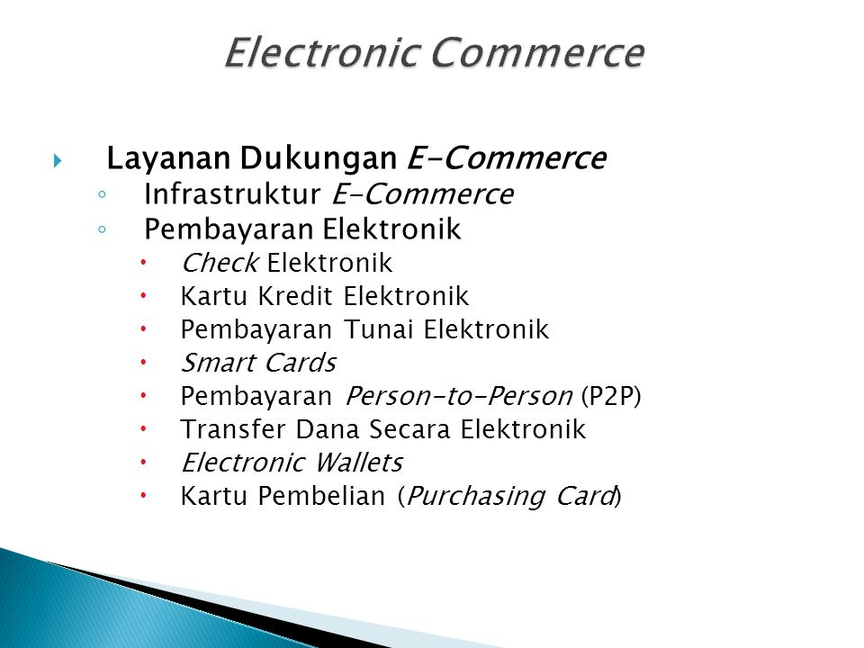 Electronic Commerce Layanan Dukungan E-Commerce