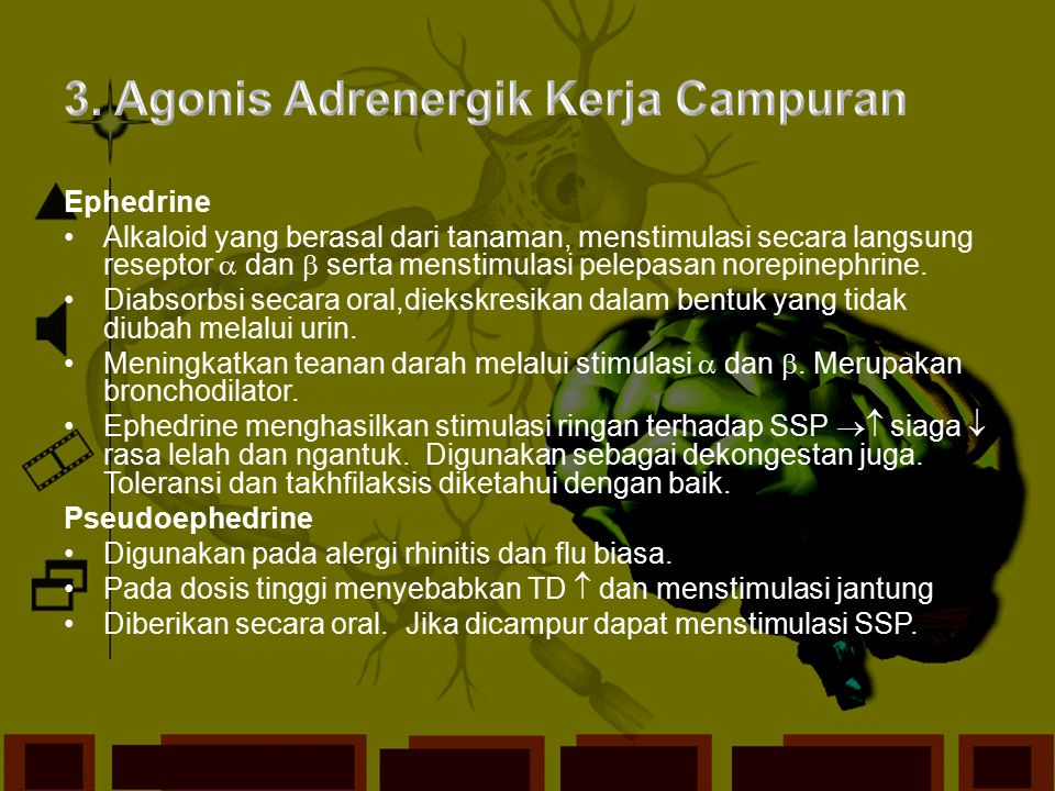 3. Agonis Adrenergik Kerja Campuran