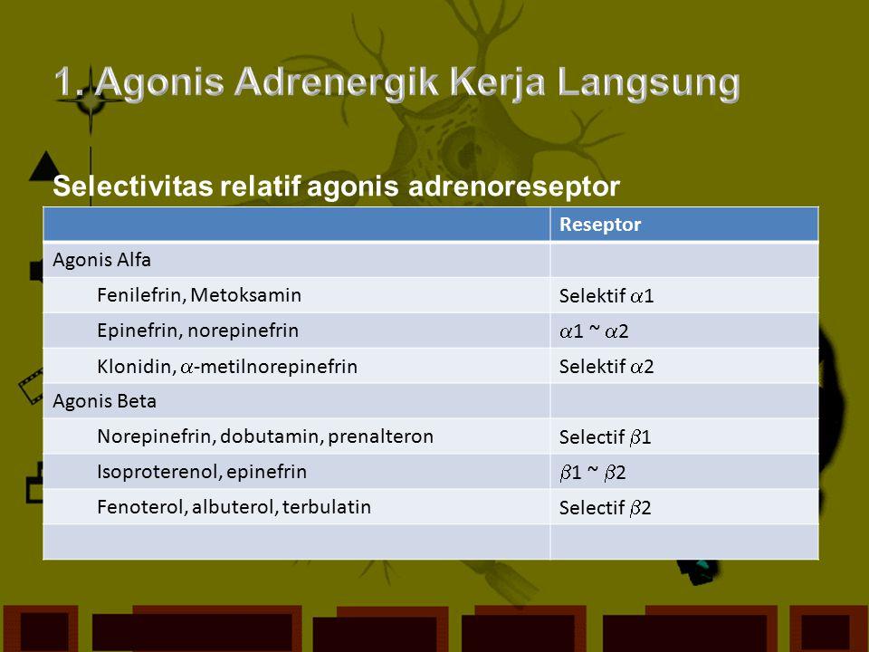 1. Agonis Adrenergik Kerja Langsung