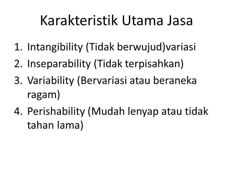 Karakteristik Utama Jasa