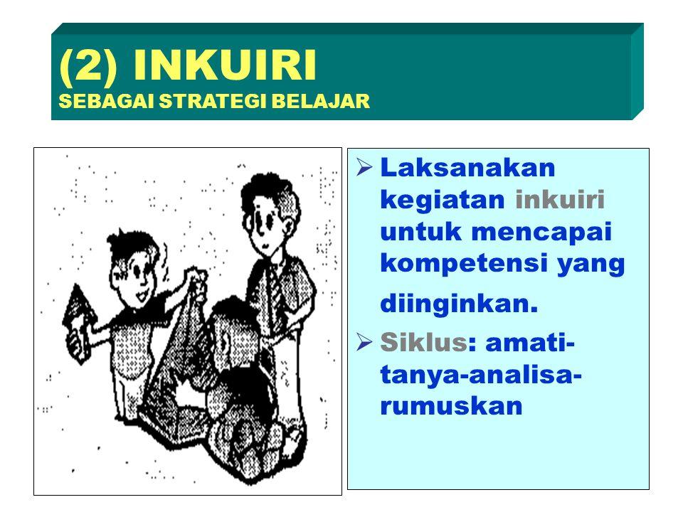 (2) INKUIRI SEBAGAI STRATEGI BELAJAR