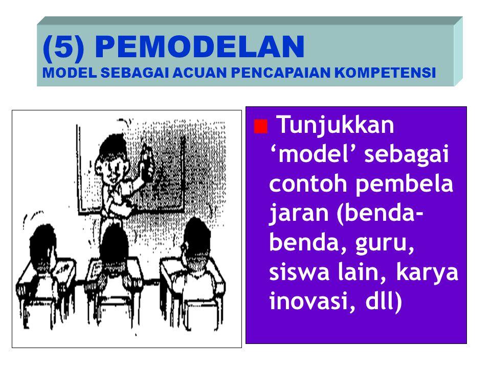 (5) PEMODELAN MODEL SEBAGAI ACUAN PENCAPAIAN KOMPETENSI