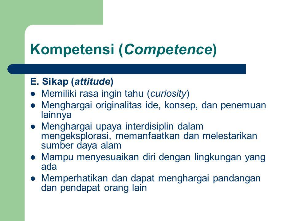 Kompetensi (Competence)