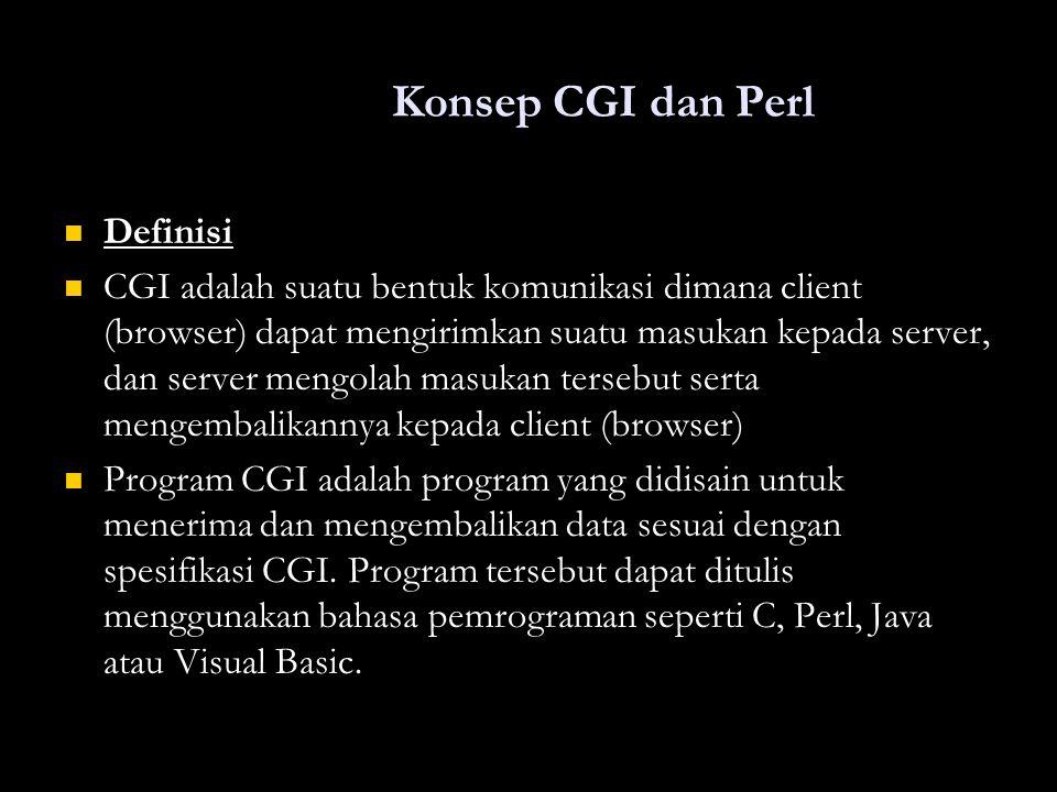 Konsep CGI dan Perl Definisi