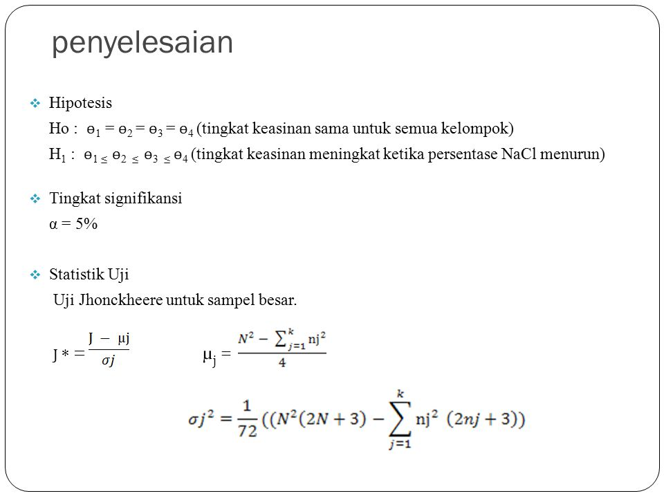 penyelesaian Hipotesis
