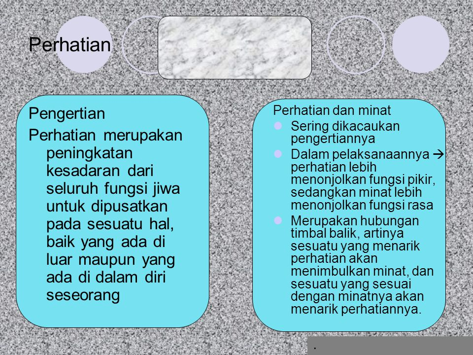 Perhatian Pengertian.
