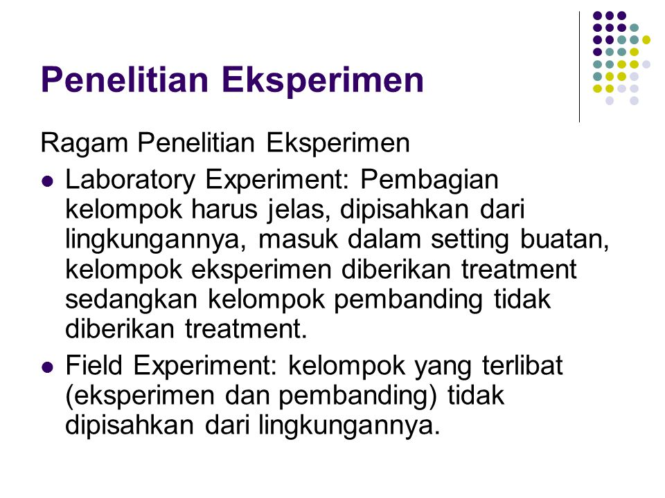 Penelitian Eksperimen