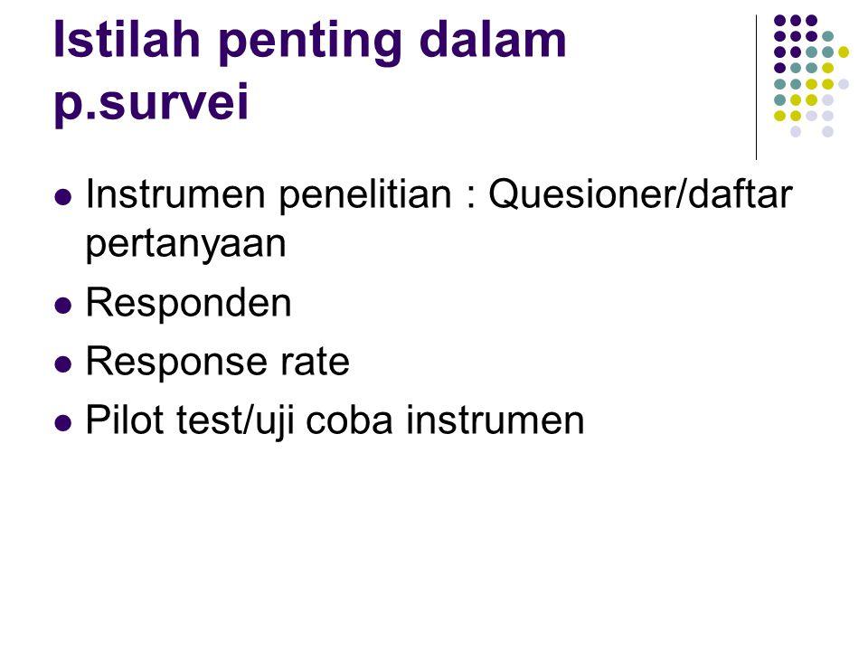 Istilah penting dalam p.survei
