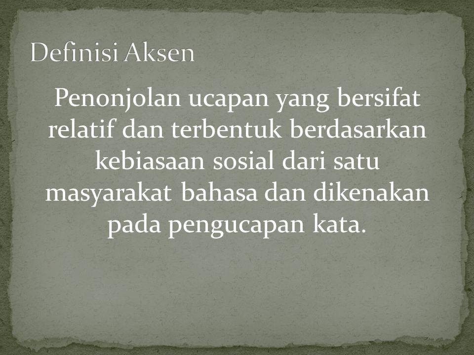 Definisi Aksen