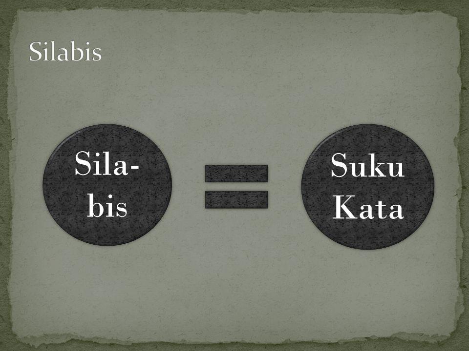 Silabis Sila- bis Suku Kata