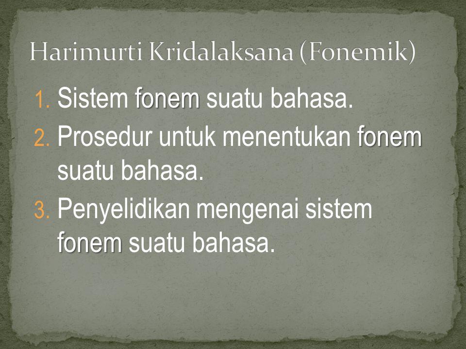 Harimurti Kridalaksana (Fonemik)