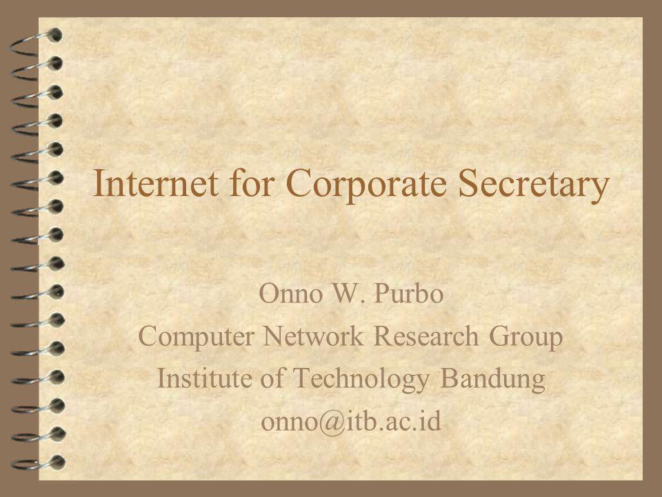 Internet for Corporate Secretary