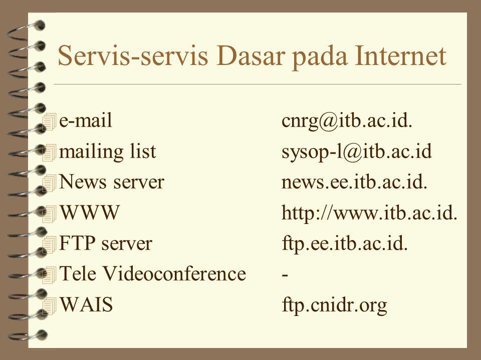 Servis-servis Dasar pada Internet