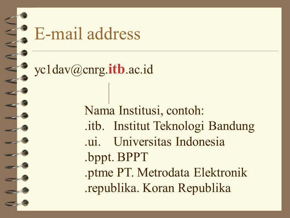 E-mail address yc1dav@cnrg.itb.ac.id Nama Institusi, contoh: